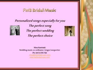 FWB Bridal Music