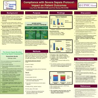 Compliance with Severe Sepsis Protocol: Impact on Patient Outcomes