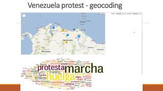 Venezuela protest -  geocoding