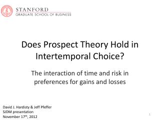Does Prospect Theory Hold in Intertemporal Choice?