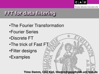 FFT for data filtering