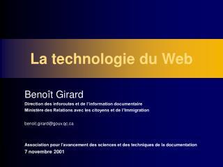 La technologie du Web