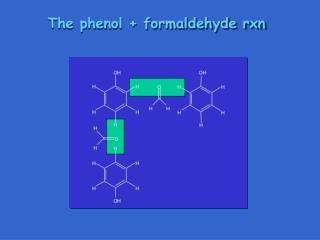 The phenol + formaldehyde rxn