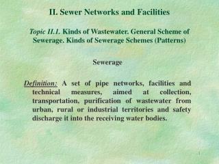 Sewerage
