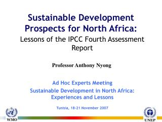 Sustainable Development Prospects for North Africa :