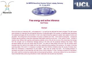 Free energy and active inference Karl Friston