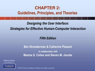 CHAPTER 2: Guidelines, Principles, and Theories