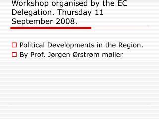 Workshop organised by the EC Delegation. Thursday 11 September 2008.