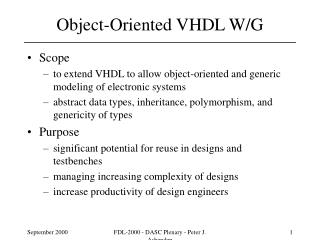 Object-Oriented VHDL W/G