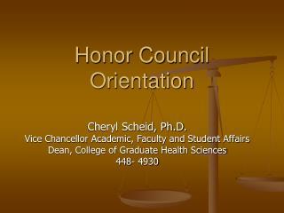 Honor Council Orientation