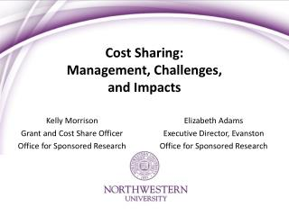 Cost Sharing:  Management, Challenges,  and Impacts