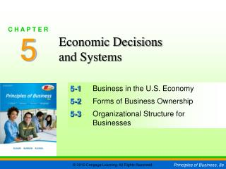 5-1 	Business in the U.S. Economy 5-2 	Forms of Business Ownership