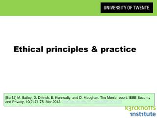 Ethical principles & practice