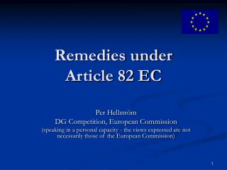 Remedies under  Article 82 EC