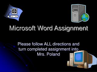 Microsoft Word Assignment