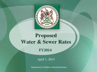 Proposed  Water & Sewer Rates