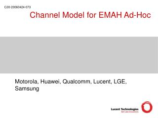 Channel Model for EMAH Ad-Hoc