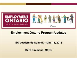 Employment Ontario  Program Updates