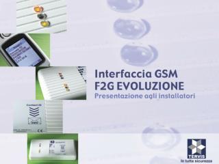 Presentazione F2G Evo Power Point