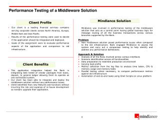 Performance Testing of a Middleware Solution