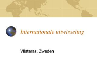 Internationale uitwisseling