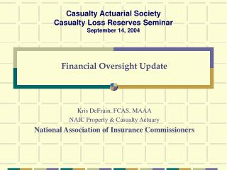 Financial Oversight Update