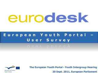 European Youth Portal – User Survey