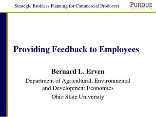 Providing Feedback to Employees