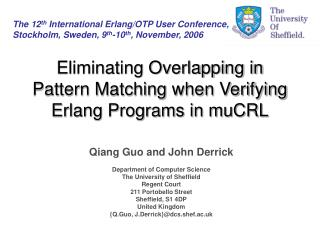 Eliminating Overlapping in Pattern Matching when Verifying Erlang Programs in muCRL
