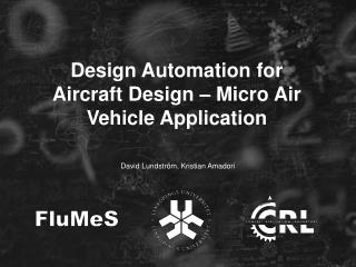 Design Automation for Aircraft Design – Micro Air Vehicle Application