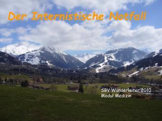 SBV Wanderleiter 2010 Modul Medizin