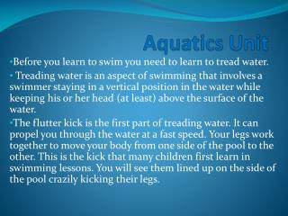 Aquatics Unit