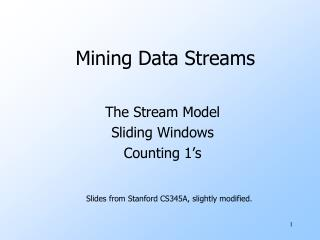 Mining Data Streams