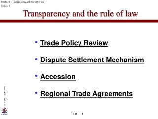 Transparency and the rule of law