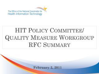 QUM WG RFC Summary