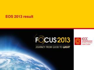 EOS 2013 result