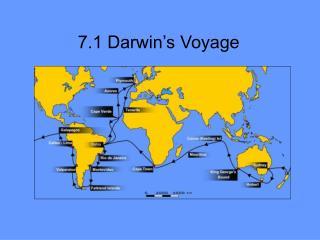 7.1 Darwin's Voyage