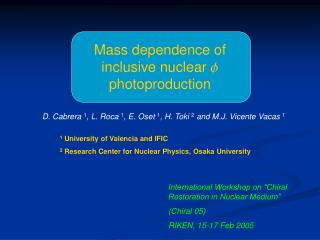 Mass dependence of inclusive nuclear  f  photoproduction