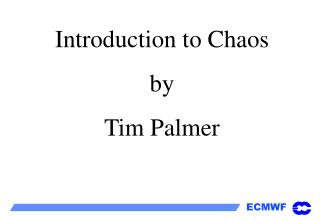 Introduction to Chaos by Tim Palmer