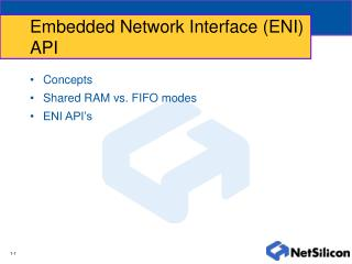 Embedded Network Interface (ENI) API