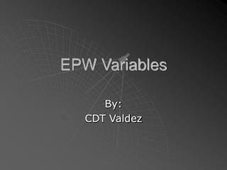 EPW Variables