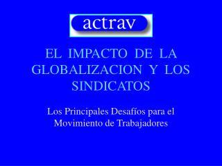 EL  IMPACTO  DE  LA GLOBALIZACION  Y  LOS SINDICATOS