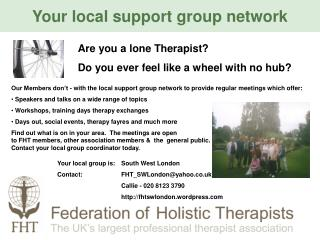 Your local support group network