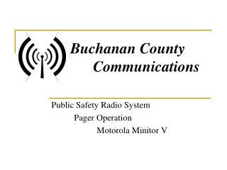 Public Safety Radio System Pager Operation Motorola  Minitor  V