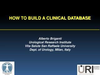 Alberto Briganti Urological Research Institute  Vita Salute San Raffaele University