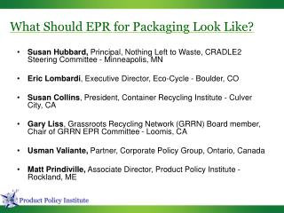 What Should EPR for Packaging Look Like?