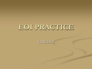 EOI PRACTICE