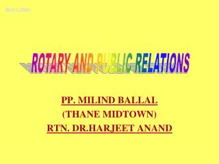 PP. MILIND BALLAL (THANE MIDTOWN) RTN. DR.HARJEET ANAND