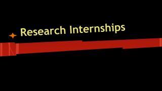 Research Internships