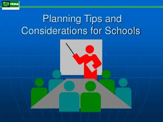 Planning Tips and Considerations for Schools